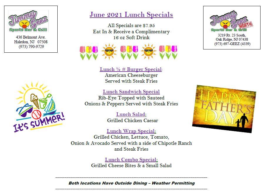 june 2021 lunch