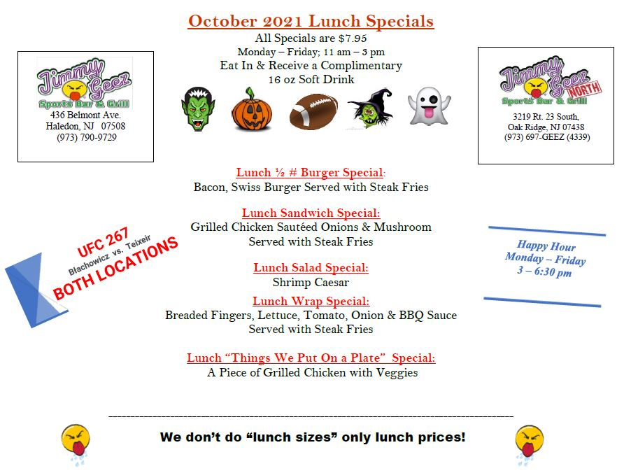 oct 21 lunch